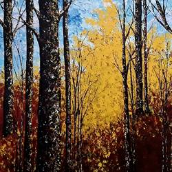touch of gold-1, 68 x 34 inch, shilpi singh patel,nature paintings,paintings for office,canvas,acrylic color,68x34inch,GAL04553931Nature,environment,Beauty,scenery,greenery