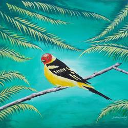 forest bird , 32 x 23 inch, srinu badri,32x23inch,canvas,paintings,wildlife paintings,nature paintings | scenery paintings,paintings for living room,paintings for bedroom,paintings for kids room,paintings for hotel,paintings for school,acrylic color,GAL01289939311