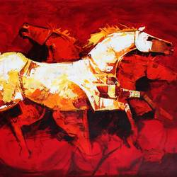 horses, 59 x 34 inch, e art  gallery,59x34inch,canvas,paintings,wildlife paintings,modern art paintings,art deco paintings,animal paintings,love paintings,paintings for dining room,paintings for living room,paintings for bedroom,paintings for office,paintings for kids room,acrylic color,GAL02768239316