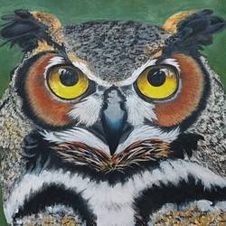 ullu, 28 x 21 inch, shyam savale,28x21inch,thick paper,paintings,wildlife paintings,paintings for living room,paintings for office,paintings for hotel,paintings for school,acrylic color,mixed media,pastel color,GAL02771239338