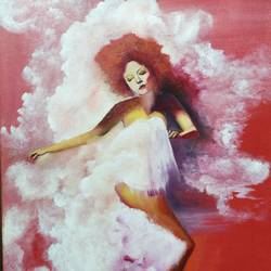 white dress, 18 x 24 inch, shivani srivastava,18x24inch,canvas,paintings,portrait paintings,expressionism paintings,paintings for dining room,paintings for living room,paintings for bedroom,paintings for office,paintings for hotel,paintings for school,paintings for hospital,acrylic color,oil color,GAL02413739344