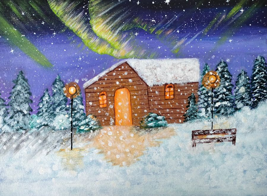 aurora in winter, 16 x 12 inch, veena nandavaram,16x12inch,canvas board,paintings,landscape paintings,nature paintings | scenery paintings,art deco paintings,paintings for dining room,paintings for living room,paintings for bedroom,paintings for office,paintings for kids room,paintings for hotel,paintings for kitchen,paintings for school,paintings for hospital,paintings for dining room,paintings for living room,paintings for bedroom,paintings for office,paintings for kids room,paintings for hotel,paintings for kitchen,paintings for school,paintings for hospital,acrylic color,GAL02687039346