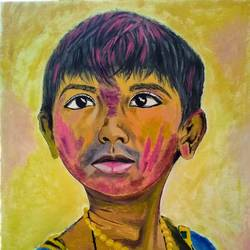 banku, 16 x 20 inch, ashish gupta,16x20inch,canvas,paintings,portrait paintings,art deco paintings,photorealism,portraiture,kids paintings,paintings for dining room,paintings for living room,paintings for kids room,paintings for hotel,paintings for school,acrylic color,GAL01415439360