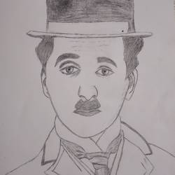 charlie chaplin, 13 x 18 inch, ajesh chawla,13x18inch,thick paper,drawings,fine art drawings,graphite pencil,GAL02783439386