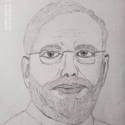 narendra modi, 13 x 18 inch, ajesh chawla,13x18inch,thick paper,drawings,fine art drawings,graphite pencil,GAL02783439388