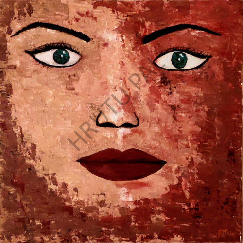 fearless, 18 x 18 inch, hrutu pal,18x18inch,canvas board,paintings,abstract paintings,figurative paintings,modern art paintings,conceptual paintings,portrait paintings,abstract expressionism paintings,expressionism paintings,illustration paintings,impressionist paintings,portraiture,contemporary paintings,realistic paintings,paintings for dining room,paintings for living room,paintings for bedroom,paintings for office,paintings for bathroom,paintings for hotel,acrylic color,GAL02779739395