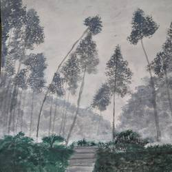 forest nature, 17 x 12 inch, pinki saha,17x12inch,drawing paper,paintings,landscape paintings,nature paintings | scenery paintings,acrylic color,paper,GAL02786539428
