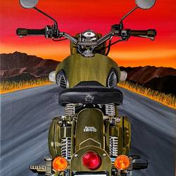 royal enfield bike on a sunset , 24 x 36 inch, saniya mohite,24x36inch,canvas,paintings,modern art paintings,portrait paintings,paintings for dining room,paintings for living room,paintings for bedroom,paintings for office,paintings for hotel,paintings for dining room,paintings for living room,paintings for bedroom,paintings for office,paintings for hotel,acrylic color,GAL02777939443