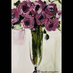 roses , 12 x 16 inch, ityesha mehta,12x16inch,drawing paper,paintings,abstract paintings,flower paintings,modern art paintings,nature paintings | scenery paintings,paintings for dining room,paintings for living room,paintings for bedroom,paintings for office,paintings for bathroom,paintings for kids room,paintings for hotel,paintings for kitchen,paintings for school,paintings for hospital,acrylic color,paper,GAL02789039451