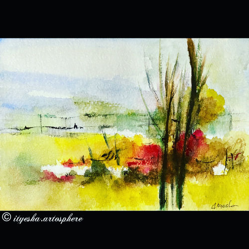 natural scenery , 8 x 12 inch, ityesha mehta,8x12inch,canson paper,paintings,nature paintings | scenery paintings,photorealism paintings,paintings for dining room,paintings for living room,paintings for bedroom,paintings for office,paintings for bathroom,paintings for kids room,paintings for hotel,paintings for kitchen,paintings for hospital,watercolor,GAL02789039456
