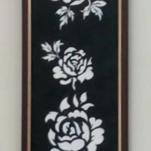 white roses, 6 x 24 inch, saniya mohite,6x24inch,thick paper,paintings,flower paintings,modern art paintings,paintings for dining room,paintings for living room,paintings for bedroom,paintings for office,paintings for hotel,acrylic color,GAL02777939467