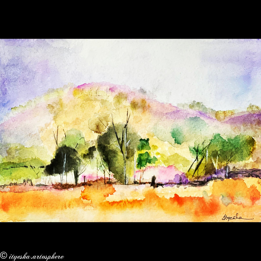 beautiful nature, 8 x 12 inch, ityesha mehta,8x12inch,canson paper,paintings,abstract paintings,landscape paintings,modern art paintings,nature paintings | scenery paintings,photorealism paintings,photorealism,paintings for dining room,paintings for living room,paintings for bedroom,paintings for office,paintings for bathroom,paintings for kids room,paintings for hotel,paintings for kitchen,paintings for school,paintings for hospital,watercolor,GAL02789039470