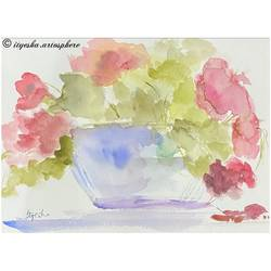 vase, 8 x 12 inch, ityesha mehta,8x12inch,brustro watercolor paper,paintings,abstract paintings,flower paintings,modern art paintings,conceptual paintings,nature paintings | scenery paintings,paintings for dining room,paintings for living room,paintings for bedroom,paintings for office,paintings for bathroom,paintings for kids room,paintings for hotel,paintings for kitchen,paintings for school,paintings for hospital,watercolor,GAL02789039477