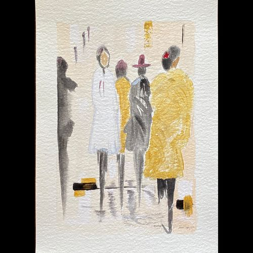 women on go, 8 x 12 inch, ityesha mehta,8x12inch,canson paper,paintings,abstract paintings,cityscape paintings,modern art paintings,conceptual paintings,abstract expressionism paintings,art deco paintings,minimalist paintings,paintings for dining room,paintings for living room,paintings for bedroom,paintings for office,paintings for bathroom,paintings for kids room,paintings for hotel,paintings for kitchen,paintings for hospital,acrylic color,GAL02789039484