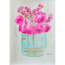 fascia roses, 8 x 12 inch, ityesha mehta,8x12inch,brustro watercolor paper,paintings,abstract paintings,flower paintings,modern art paintings,conceptual paintings,paintings for dining room,paintings for living room,paintings for bedroom,paintings for office,paintings for bathroom,paintings for kids room,paintings for hotel,paintings for kitchen,paintings for school,paintings for hospital,watercolor,GAL02789039487