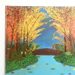 fall colours, 12 x 16 inch, ruchi verma,12x16inch,canvas,paintings,nature paintings | scenery paintings,paintings for living room,paintings for bedroom,paintings for office,paintings for kids room,acrylic color,GAL02794539521