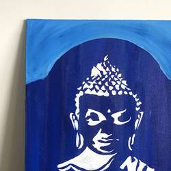 calming buddha, 8 x 12 inch, ruchi verma,8x12inch,canvas,paintings,buddha paintings,paintings for dining room,paintings for living room,paintings for office,acrylic color,GAL02794539525