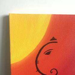 ganesha art, 8 x 12 inch, ruchi verma,8x12inch,canvas,paintings,religious paintings,ganesha paintings | lord ganesh paintings,paintings for living room,paintings for bedroom,paintings for office,paintings for school,acrylic color,GAL02794539526
