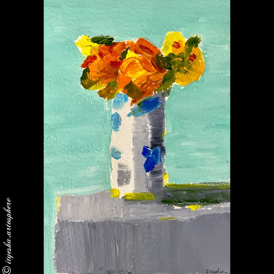 those flowers, 8 x 12 inch, ityesha mehta,8x12inch,canson paper,paintings,abstract paintings,flower paintings,modern art paintings,conceptual paintings,still life paintings,nature paintings | scenery paintings,abstract expressionism paintings,paintings for dining room,paintings for living room,paintings for bedroom,paintings for office,paintings for bathroom,paintings for kids room,paintings for hotel,paintings for kitchen,paintings for school,paintings for hospital,acrylic color,GAL02789039570