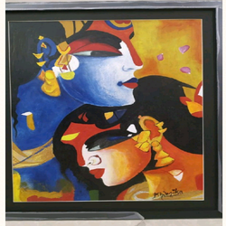 radha krishna painting , 19 x 24 inch, bhumika kumawat,19x24inch,thick paper,abstract paintings,modern art paintings,religious paintings,radha krishna paintings,paintings for dining room,paintings for living room,paintings for bedroom,paintings for office,paintings for dining room,paintings for living room,paintings for bedroom,paintings for office,acrylic color,GAL02800139574