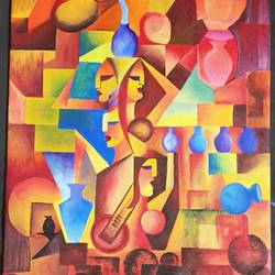modern art, 14 x 17 inch, abanesh  bansal,14x17inch,canvas,paintings,abstract paintings,acrylic color,GAL01395739581