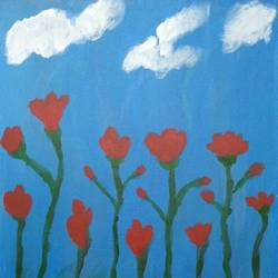 good morning, 16 x 20 inch, sandeep kumar,16x20inch,canvas board,paintings,flower paintings,paintings for bedroom,acrylic color,GAL02031439583