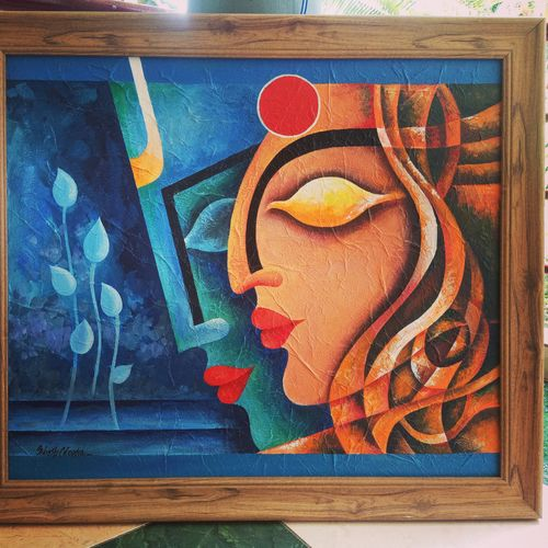 siva parvathi, 28 x 24 inch, mahesh chandra,28x24inch,canvas,drawings,abstract drawings,modern drawings,paintings for living room,paintings for office,acrylic color,GAL02799239584
