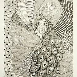 doodle art , 11 x 16 inch, simran solkar,11x16inch,thick paper,drawings,paintings for dining room,paintings for living room,illustration drawings,paintings for dining room,paintings for living room,pen color,GAL02750639609