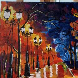 rainy park pathway, 10 x 12 inch, medha dalela,10x12inch,canvas board,paintings,landscape paintings,nature paintings | scenery paintings,impressionist paintings,paintings for dining room,paintings for living room,paintings for bedroom,paintings for office,paintings for hotel,paintings for school,paintings for hospital,paintings for dining room,paintings for living room,paintings for bedroom,paintings for office,paintings for hotel,paintings for school,paintings for hospital,acrylic color,GAL02786739622