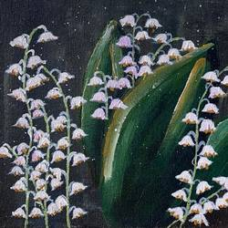 white lillies, 8 x 10 inch, medha dalela,8x10inch,canvas board,paintings,flower paintings,paintings for dining room,paintings for living room,paintings for bedroom,paintings for office,paintings for bathroom,paintings for kids room,paintings for hotel,paintings for kitchen,paintings for school,paintings for hospital,acrylic color,GAL02786739625