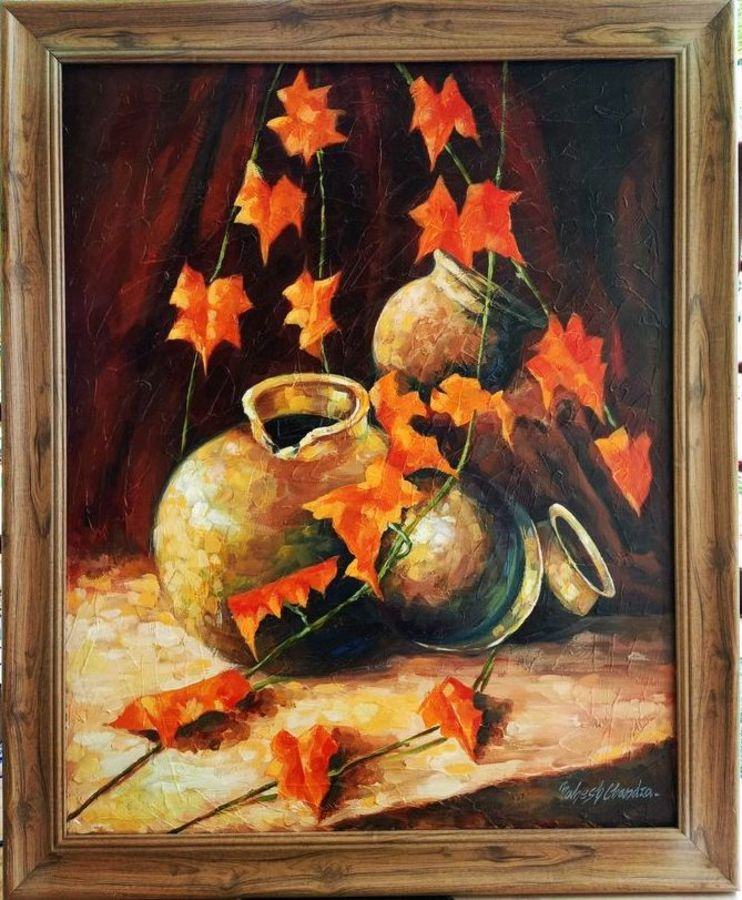 still life painting , 24 x 30 inch, mahesh chandra,24x30inch,canvas,paintings,abstract paintings,modern art paintings,still life paintings,paintings for dining room,paintings for living room,paintings for hotel,paintings for kitchen,acrylic color,GAL02799239636
