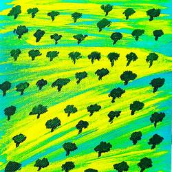 tree field, 6 x 8 inch, shruti vishnoi,6x8inch,canvas,paintings,landscape paintings,nature paintings | scenery paintings,paintings for dining room,paintings for living room,paintings for bedroom,paintings for office,paintings for bathroom,paintings for kids room,paintings for hotel,paintings for kitchen,paintings for school,paintings for hospital,acrylic color,GAL02800639637
