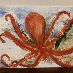 the dancing octopus, 14 x 18 inch, veronica goenka,14x18inch,canvas,abstract paintings,modern art paintings,pop art paintings,paintings for dining room,paintings for living room,paintings for bedroom,paintings for office,paintings for bathroom,paintings for kids room,paintings for hotel,paintings for kitchen,paintings for school,paintings for hospital,paintings for dining room,paintings for living room,paintings for bedroom,paintings for office,paintings for bathroom,paintings for kids room,paintings for hotel,paintings for kitchen,paintings for school,paintings for hospital,acrylic color,GAL02807239649