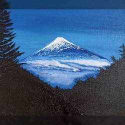 snow clad mountains, 10 x 12 inch, madhumita roy,10x12inch,canvas,paintings,nature paintings | scenery paintings,oil color,GAL02759239652