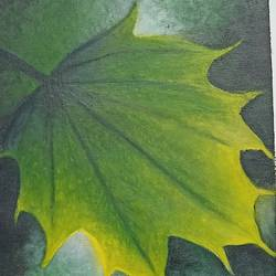 leaf, 10 x 15 inch, giridharan p,10x15inch,canvas,nature paintings | scenery paintings,paintings for dining room,paintings for living room,paintings for office,paintings for dining room,paintings for living room,paintings for office,oil color,GAL02788139661