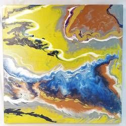 fluid acrylic paintings, 12 x 12 inch, priyanka chaudhari,12x12inch,canvas,paintings,abstract paintings,paintings for dining room,paintings for living room,paintings for bedroom,paintings for office,paintings for hotel,paintings for kitchen,acrylic color,GAL02808539664