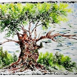 the nature 21, 35 x 28 inch, kankana  pal,nature paintings,paintings for living room,paper,mixed media,35x28inch,GAL08333969Nature,environment,Beauty,scenery,greenery