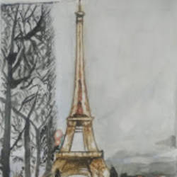 eiffel towr, 12 x 16 inch, rajinder koul,12x16inch,thick paper,abstract paintings,landscape paintings,conceptual paintings,illustration paintings,minimalist paintings,portraiture,paintings for dining room,paintings for living room,paintings for bedroom,paintings for office,paintings for bathroom,paintings for hotel,paintings for kitchen,paintings for hospital,paintings for dining room,paintings for living room,paintings for bedroom,paintings for office,paintings for bathroom,paintings for hotel,paintings for kitchen,paintings for hospital,watercolor,paper,GAL01404539696