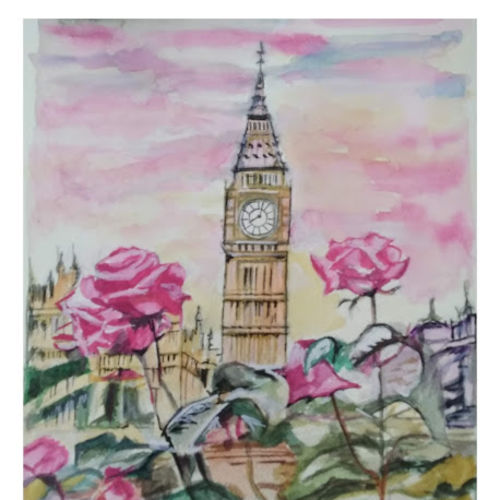 big ben roses, 12 x 16 inch, rajinder koul,12x16inch,thick paper,flower paintings,cityscape paintings,landscape paintings,still life paintings,portrait paintings,nature paintings | scenery paintings,photorealism paintings,photorealism,contemporary paintings,realistic paintings,paintings for dining room,paintings for living room,paintings for bedroom,paintings for office,paintings for bathroom,paintings for hotel,paintings for kitchen,paintings for hospital,paintings for dining room,paintings for living room,paintings for bedroom,paintings for office,paintings for bathroom,paintings for hotel,paintings for kitchen,paintings for hospital,watercolor,paper,GAL01404539700