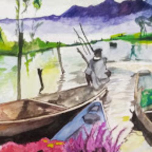 flower boat, 12 x 16 inch, rajinder koul,12x16inch,thick paper,paintings,flower paintings,landscape paintings,still life paintings,nature paintings | scenery paintings,paintings for dining room,paintings for living room,paintings for bedroom,paintings for office,paintings for bathroom,paintings for kitchen,paintings for school,paintings for hospital,paintings for dining room,paintings for living room,paintings for bedroom,paintings for office,paintings for bathroom,paintings for kitchen,paintings for school,paintings for hospital,watercolor,paper,GAL01404539702