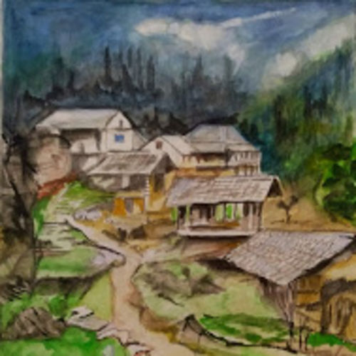 hill homes, 12 x 16 inch, rajinder koul,12x16inch,thick paper,paintings,landscape paintings,nature paintings | scenery paintings,contemporary paintings,paintings for dining room,paintings for living room,paintings for bedroom,paintings for office,paintings for bathroom,paintings for hotel,paintings for kitchen,paintings for school,paintings for hospital,watercolor,paper,GAL01404539709
