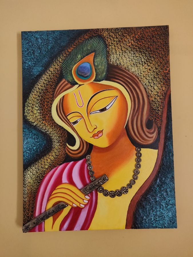 acrylic painting of a woman (abstract), 27 x 33 inch, shyamala rao,27x33inch,canvas,paintings,abstract paintings,figurative paintings,still life paintings,portrait paintings,portraiture,paintings for dining room,paintings for living room,paintings for bedroom,paintings for office,paintings for bathroom,paintings for kids room,paintings for hotel,paintings for kitchen,paintings for school,paintings for hospital,acrylic color,GAL02647939722