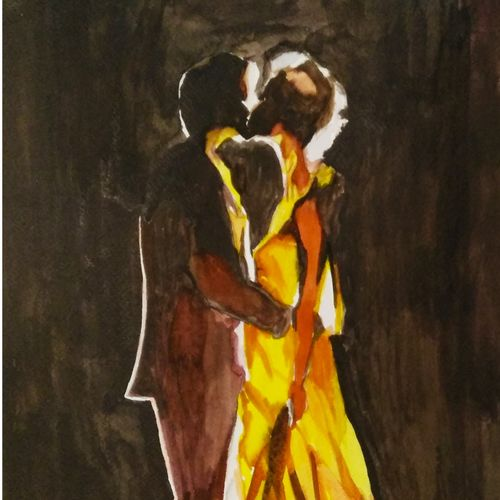 the vow, 12 x 16 inch, rajinder koul,12x16inch,thick paper,paintings,abstract paintings,figurative paintings,modern art paintings,conceptual paintings,expressionism paintings,illustration paintings,photorealism paintings,photorealism,realism paintings,gond painting.,paintings for dining room,paintings for living room,paintings for bedroom,paintings for office,paintings for bathroom,paintings for hotel,paintings for hospital,paintings for dining room,paintings for living room,paintings for bedroom,paintings for office,paintings for bathroom,paintings for hotel,paintings for hospital,watercolor,paper,GAL01404539731