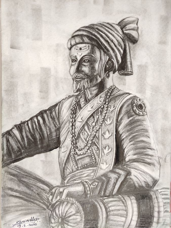 shivaji maharaj , 12 x 16 inch, shrinidhi zangaruche,12x16inch,thick paper,paintings for dining room,paintings for living room,paintings for bedroom,paintings for office,paintings for kids room,paintings for hotel,paintings for kitchen,paintings for school,paintings for hospital,art deco drawings,conceptual drawings,fine art drawings,folk drawings,portrait drawings,realism drawings,kids drawings,ganesha drawings,paintings for dining room,paintings for living room,paintings for bedroom,paintings for office,paintings for kids room,paintings for hotel,paintings for kitchen,paintings for school,paintings for hospital,charcoal,graphite pencil,GAL02810039739