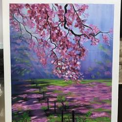 cherry blossom, 16 x 20 inch, janhvi srivastava,16x20inch,canvas,paintings,flower paintings,landscape paintings,modern art paintings,nature paintings | scenery paintings,paintings for dining room,paintings for living room,paintings for bedroom,paintings for office,paintings for bathroom,paintings for kids room,paintings for hotel,paintings for kitchen,paintings for school,paintings for hospital,acrylic color,GAL02483839769