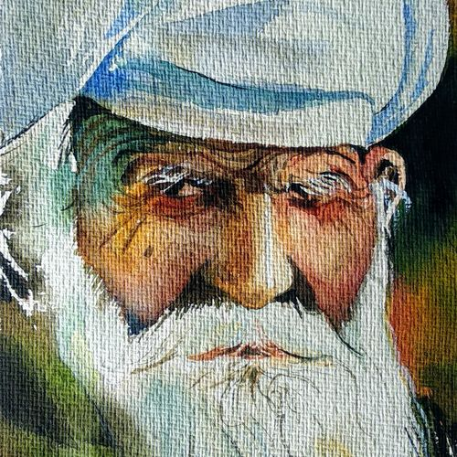 old man, 6 x 9 inch, mintu kumar  mahato ,6x9inch,handmade paper,paintings,portrait paintings,paintings for dining room,paintings for living room,paintings for bedroom,paintings for office,paintings for hotel,paintings for school,watercolor,GAL02811439788