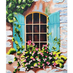 floral, 18 x 24 inch, shreya khandelwal,18x24inch,canvas,paintings,cityscape paintings,acrylic color,GAL02761239792