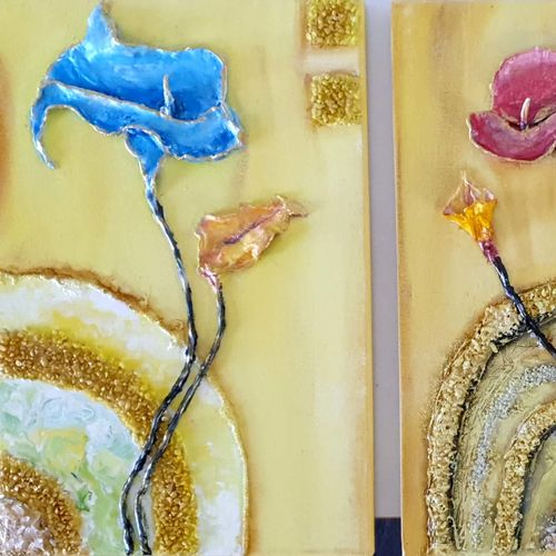 relief group painting , 38 x 18 inch, simran  asrani ,38x18inch,canvas,paintings,abstract paintings,flower paintings,modern art paintings,multi piece paintings,nature paintings | scenery paintings,paintings for dining room,paintings for living room,paintings for bedroom,paintings for office,paintings for bathroom,paintings for kids room,paintings for hotel,paintings for kitchen,paintings for school,paintings for hospital,acrylic color,ceramic,mixed media,oil color,sand,marble,GAL02796239825