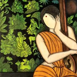 bhakti , 29 x 33 inch, mrinal  dutt,29x33inch,canvas,figurative paintings,conceptual paintings,religious paintings,radha krishna paintings,contemporary paintings,paintings for dining room,paintings for bedroom,paintings for bathroom,paintings for kids room,paintings for hotel,paintings for kitchen,paintings for school,paintings for hospital,paintings for dining room,paintings for bedroom,paintings for bathroom,paintings for kids room,paintings for hotel,paintings for kitchen,paintings for school,paintings for hospital,acrylic color,GAL01311739828
