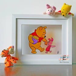 winnie the pooh, 11 x 9 inch, puja k,11x9inch,acrylic glass,paintings,art deco paintings,baby paintings,children paintings,kids paintings,paintings for kids room,paintings for school,paintings for hospital,glass,GAL02756539835